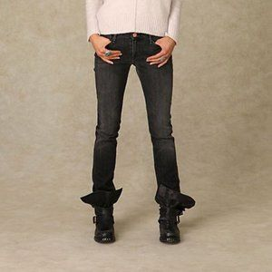 Earnest Sewn Gray Harlan Distressed Skinny Jeans
